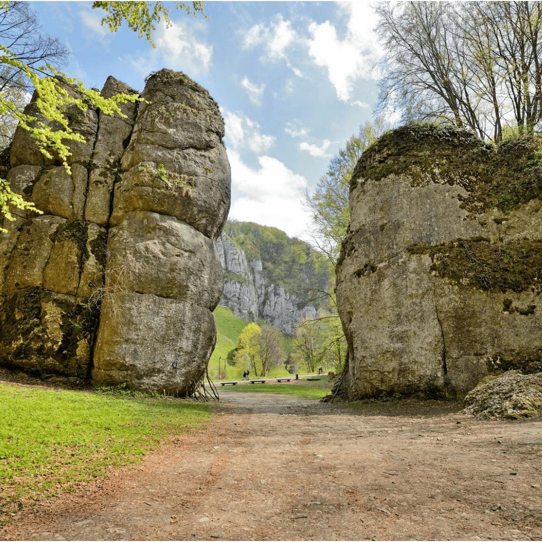 Brama Krakowsko Częstochowska Park w Ojcowie